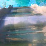Elf Meter lange Breitwellenrutsche
